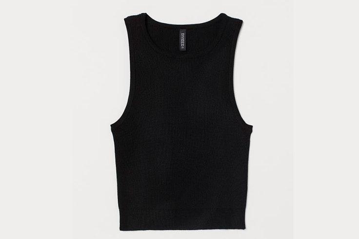 Top de tirantes en color negro de H&M