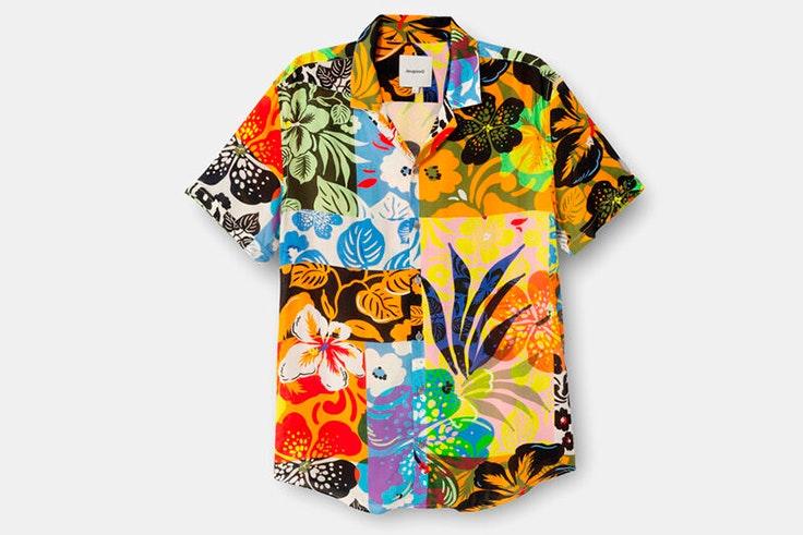 Camisa con estampado de colores de Desigual