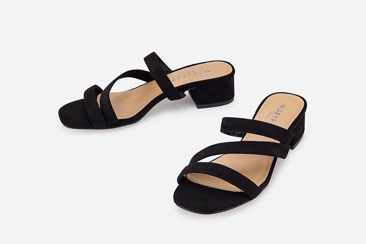 rebajas de verano 2020 Sandalias negras con tiras de Marypaz