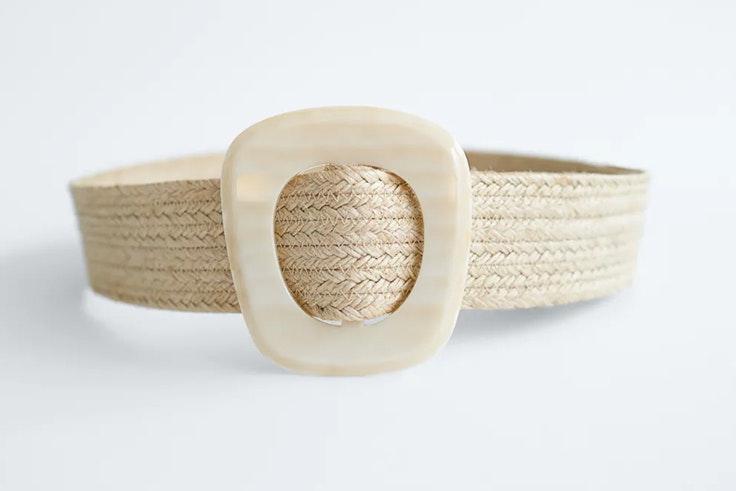 Cinturón de rafia de Zara
