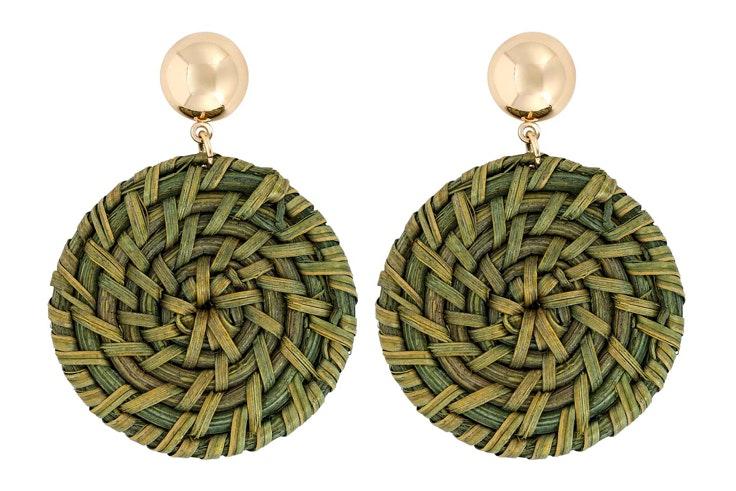 Pendientes en verde de Bijou Brigitte
