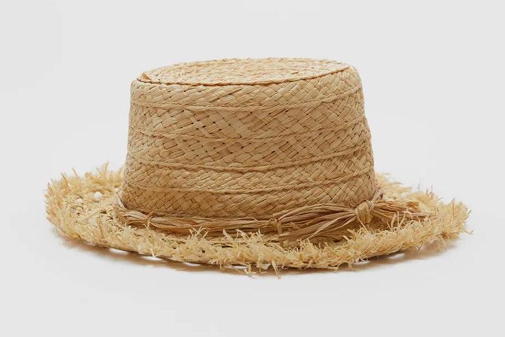 Sombrero de rafia de Zara
