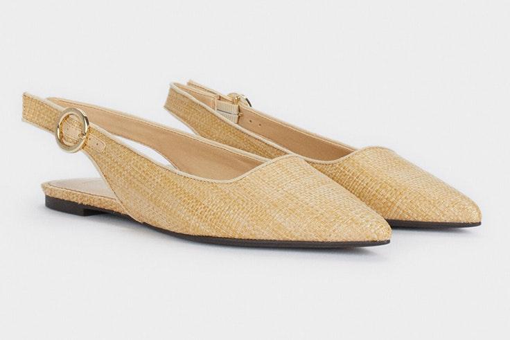 Zapatos destalonados de rafia de Parfois