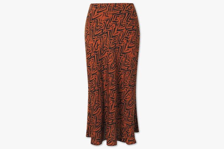Falda midi con estampado animal de C&A