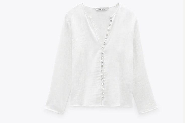 Camisa blanca de Zara