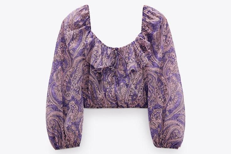 Novedades de Zara: camisa estampada