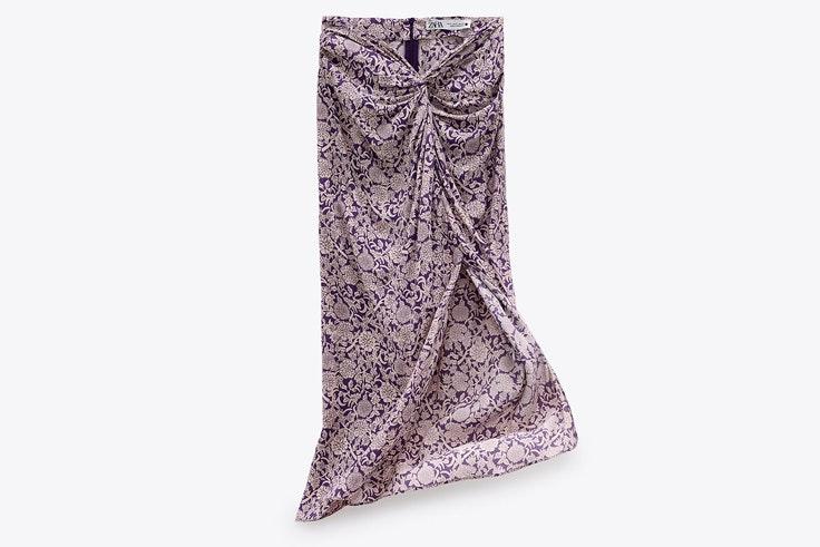 Falda estampada de las Novedades de Zara