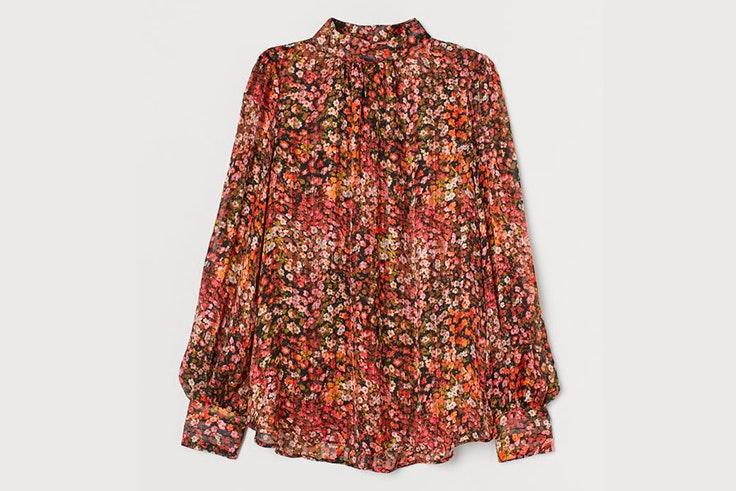 Blusa con estampado de flores de H&M