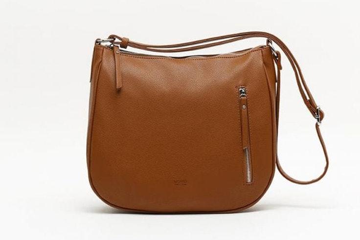 Bolso marrón tipo bandolera de Misako