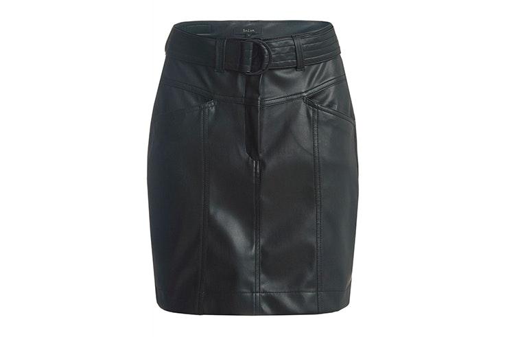 Falda negra de polipiel de Salsa Jeans