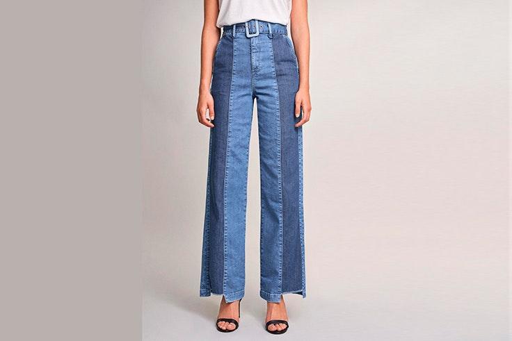 Pantalón vaquero con mezcla de dos tonos de denim de Salsa Jeans