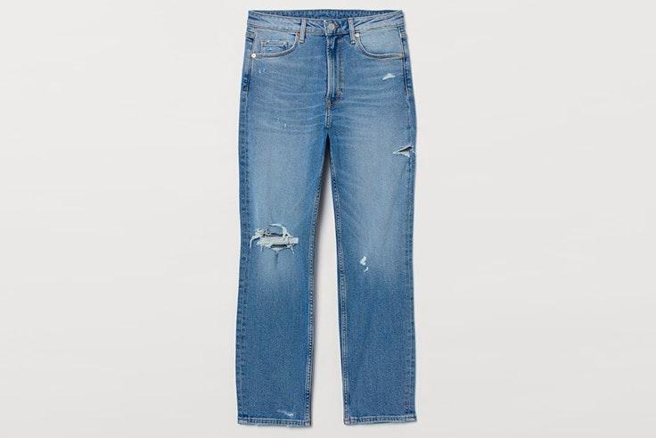Pantalones vaqueros deshilachados de H&M