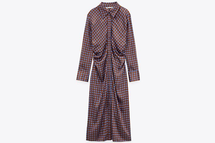 Vestido camisero estampado de Zara vestidos de entretiempo