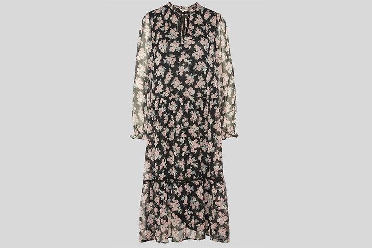 Vestido midi fluido con estampado de flores de C&A  vestidos de entretiempo