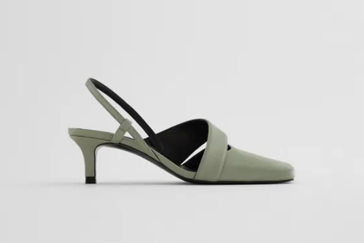 Zapatos de tacón verdes de Zara