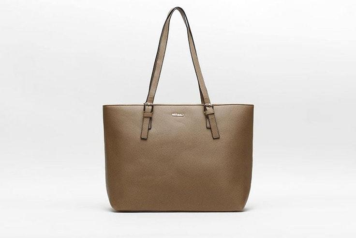 Bolso tipo shopper en color marrón de Misako