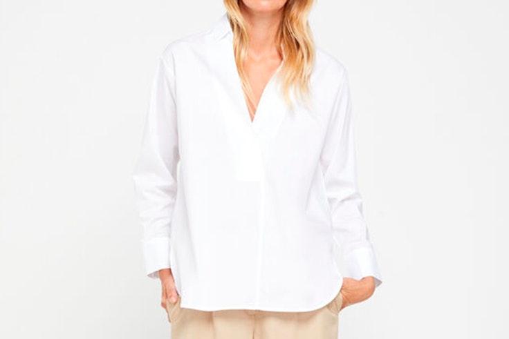 Camisa blanca de Cortefiel