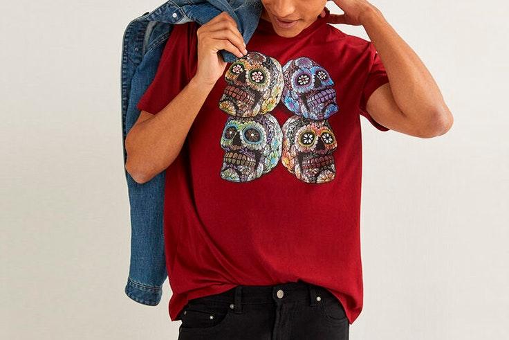 Camiseta granate marino de manga corta con estampado gráfico yourpersonalhalloween springfield
