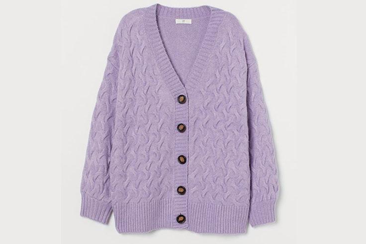 Chaqueta de punto en color lila de H&M