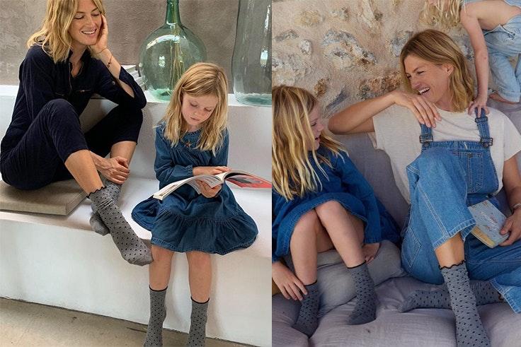 novedades de  Calzedonia calcetines de lunares madre e hija