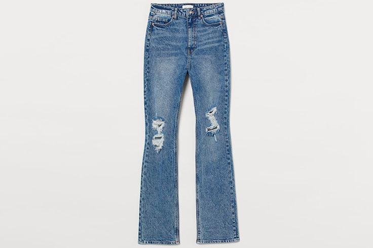 Pantalones vaqueros con detalles desgastados de H&M