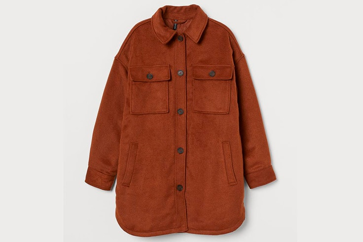 Sobrecamisa marrón de H&M