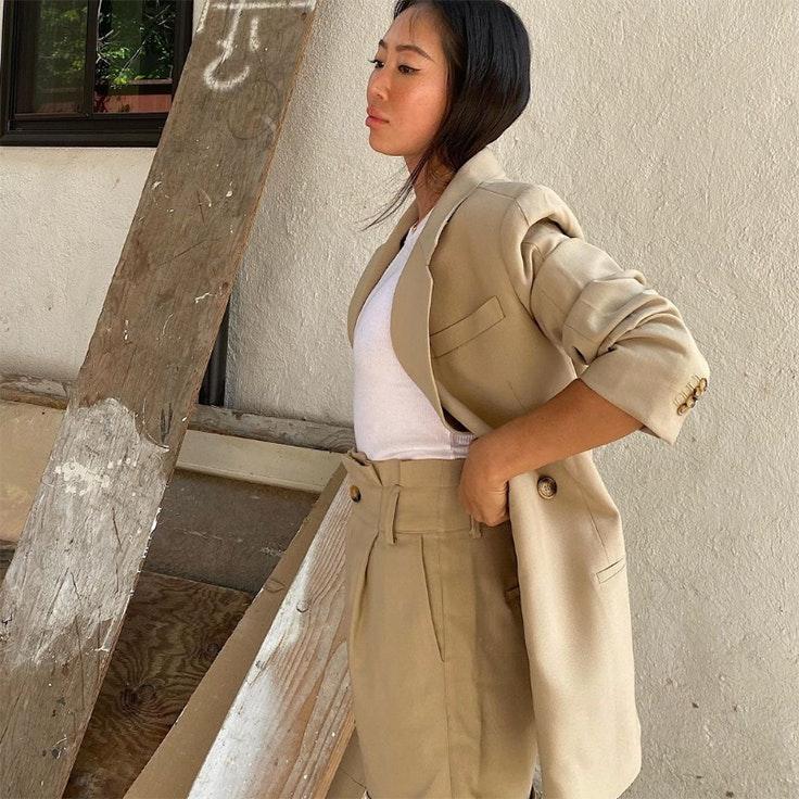 aimee song trajes beige