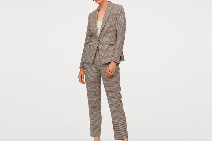 Chaqueta y pantalón de cuadros de H&M