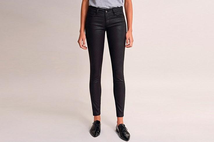 Pantalón negro efecto piel de Salsa Jeans