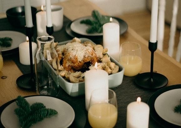 Decoración de la mesa del comedor