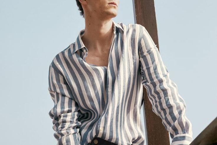 Camisa de rayas de Massimo Dutti  tendencias para ellos