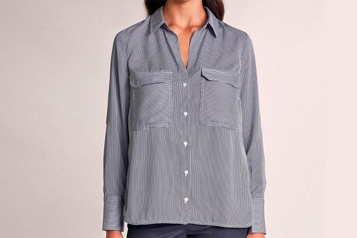 camisa de rayas tendencias de primavera Camisa de rayas de Salsa Jeans