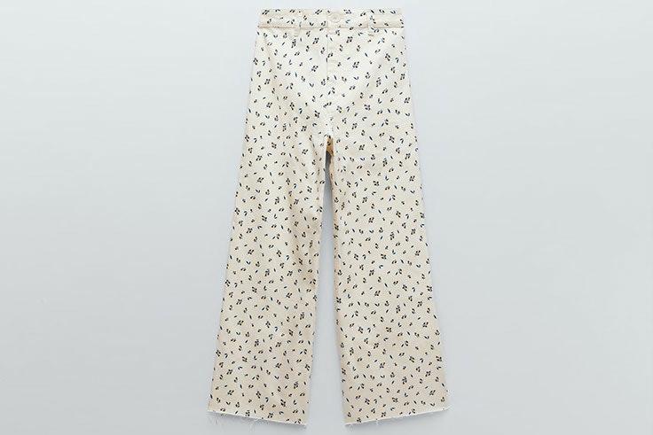 tendencias de primavera Pantalón de flores de Zara