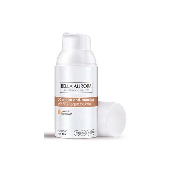 Crema Color Anti-Manchas SPF 50+ de Bella Aurora. Disponible en Primor