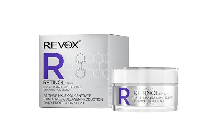 Retinol Crema de Día Antiarrugas con SPF20 de Revox. Disponible en Primor