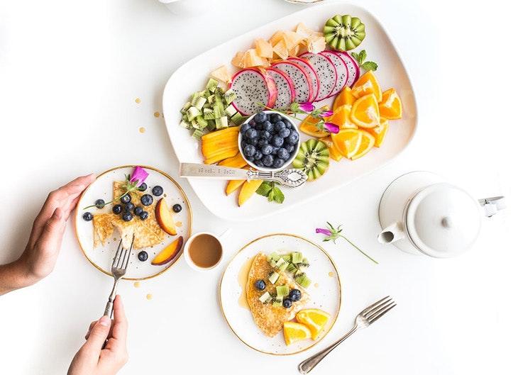 Desayunos de fin de semana fruta