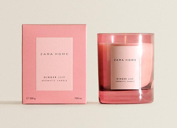 Vela de ginger lily de Zara Home