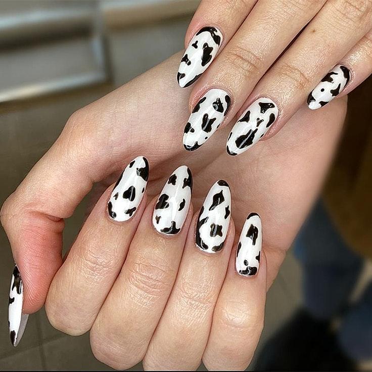 Tendencias de uñas nail art animal print