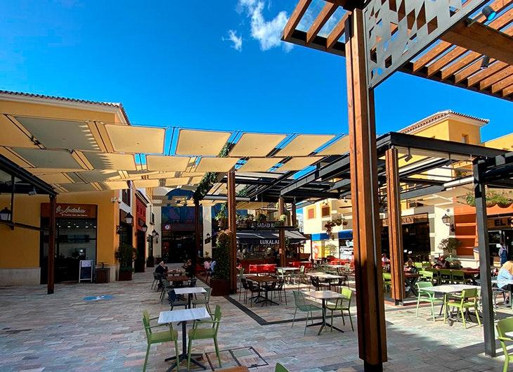 Comer en Plaza Mayor zona de restaurantes patio gourmet