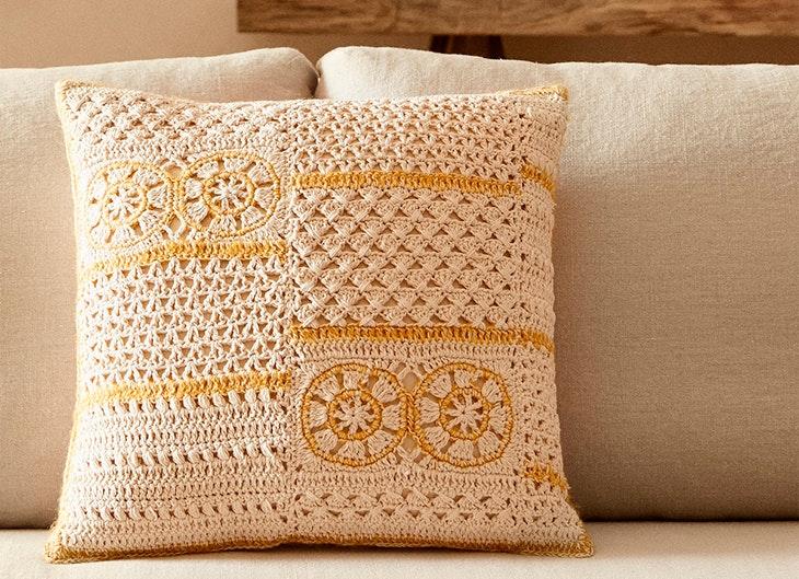 elementos de decoración © Zara Home cojines de crochet