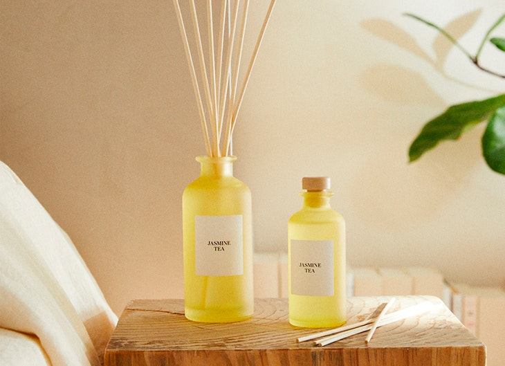 elementos de decoración © Zara Home difusor en stick jasmine tea