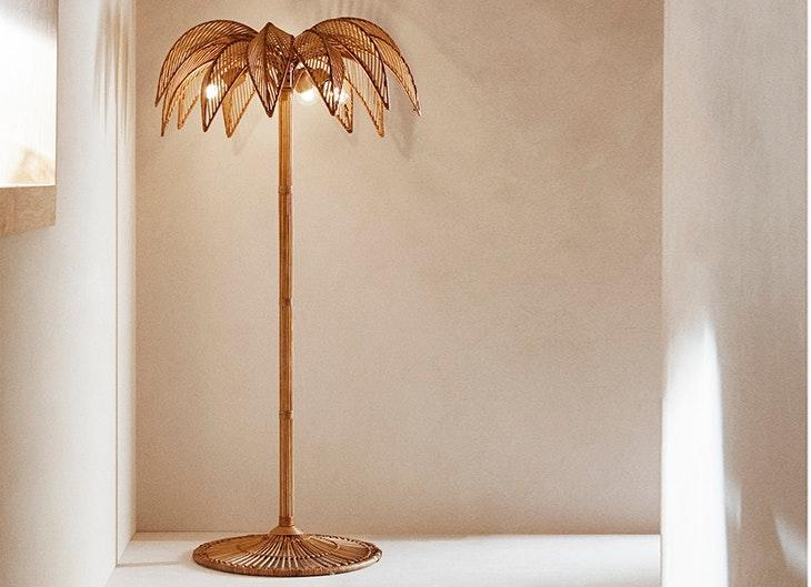 elementos de decoración lámpara palmera de Zara Home