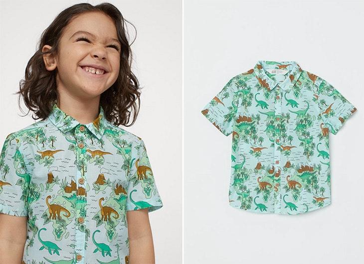 colección infantil de H&M Camisa estampada de algodón