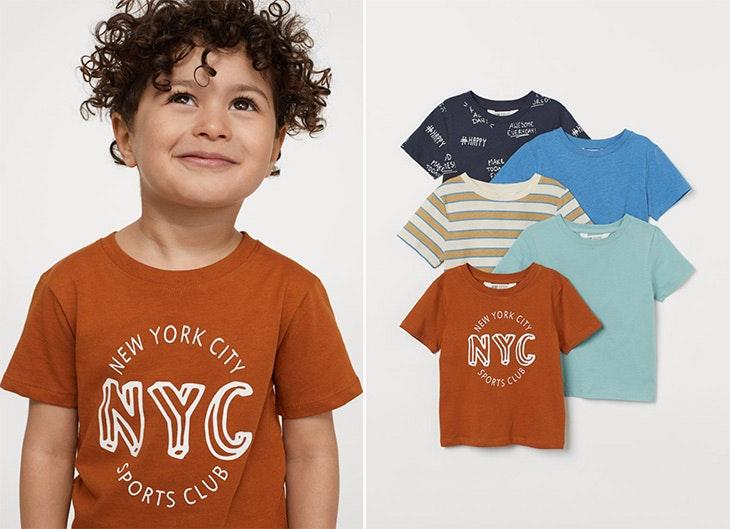 Camisetas de algodón colección infantil de H&M
