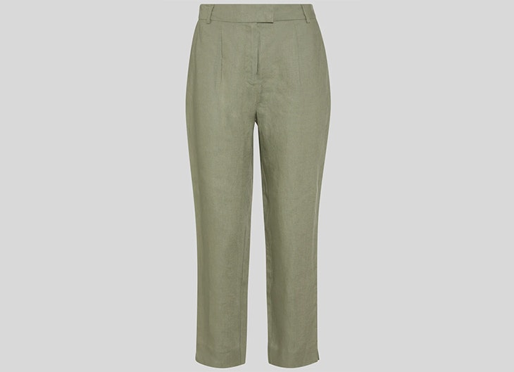 Pantalón de lino en color kaki de C&A