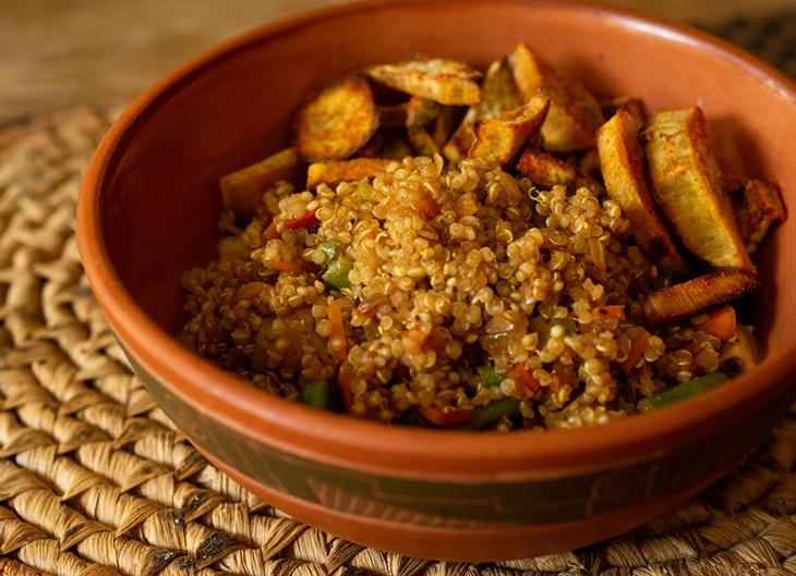 recetas con quinoa salteado de verduras