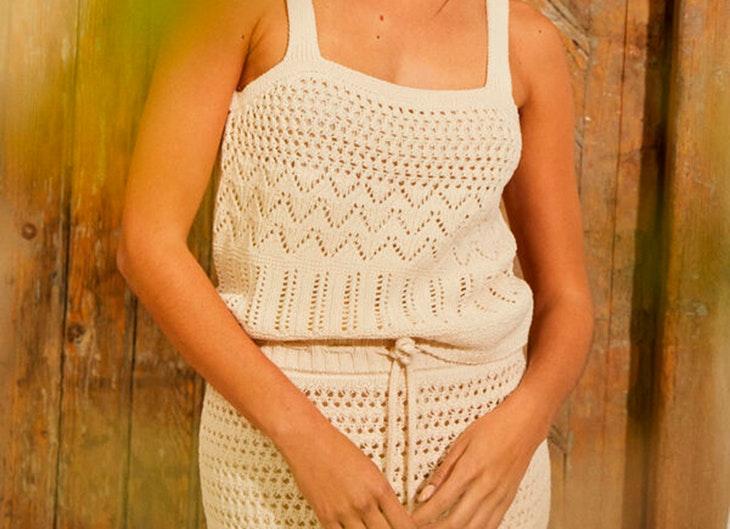 tendencias para verano Conjunto de top y falda de crochet de Slowlove. Disponible en Cortefiel