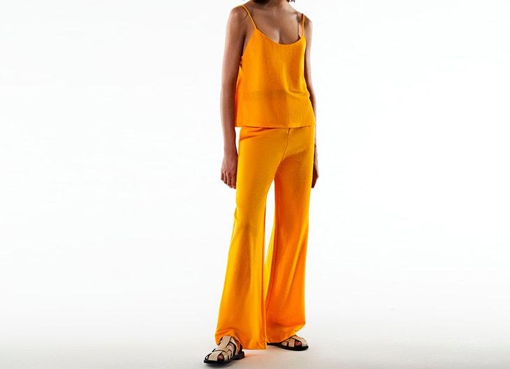 Conjunto de blusa de tirantes y pantalón de Zara