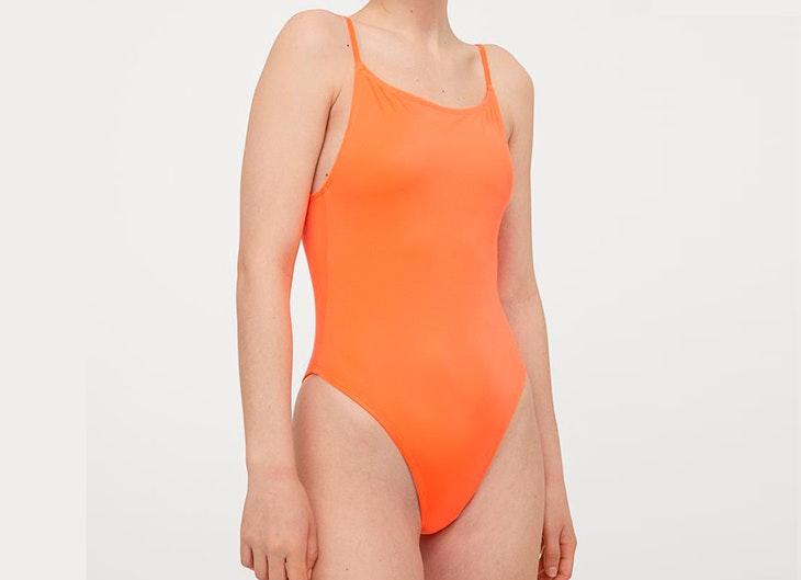 Bañador liso en color naranja de H&M