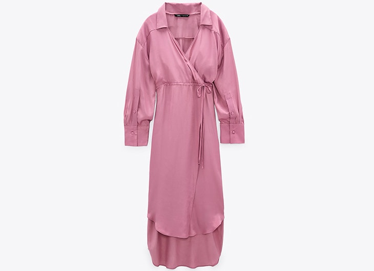 Vestido camisero en color lila de Zara Veronica Diaz